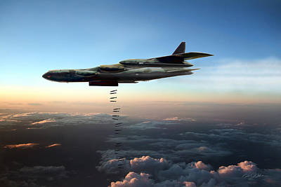 Thunder Digital Art - Dusk Strike B-52d by Peter Chilelli