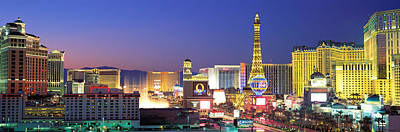Sunset Strip Wall Art - Photograph - Dusk, The Strip, Las Vegas, Nevada, Usa by Panoramic Images