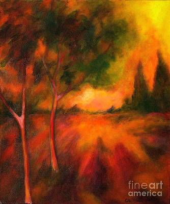 Art Print featuring the painting Dusks Reflection by Alison Caltrider