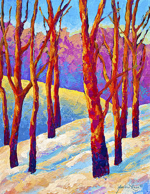 Aspen Wall Art - Painting - Dusk's Veil by Marion Rose
