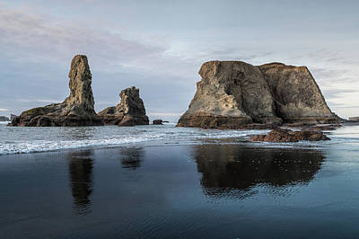 Photograph - Dusky Bandon Sea Stacks by Greg Nyquist
