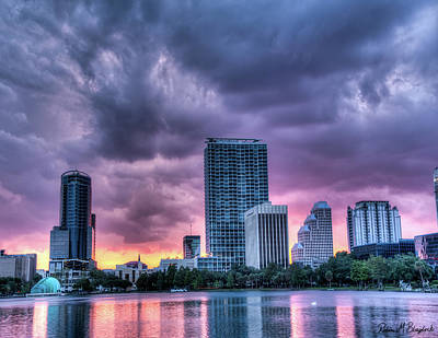 Photograph - Dusky Downtown Orlando, Florida by Robin Blaylock