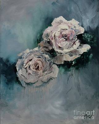Painting - Dusky Roses by Chris Hobel