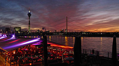 Duesseldorf Photograph - Dusseldorf, Rhine River Sunset No. 2 by Richard Cummings