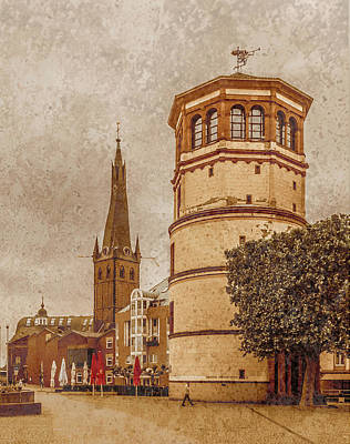 Photograph - Dusseldorf, Germany - Schlossturm by Mark Forte