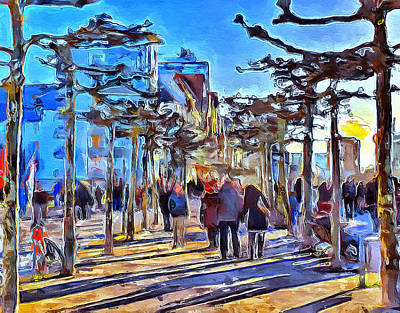 Digital Art - Dusseldorf Walking by Yury Malkov