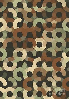 Dust Geometric Circle Pattern Art Print