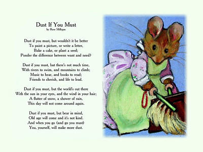 Pastel - Dust If You Must With Beatrix Potter Mouse by Joyce Geleynse