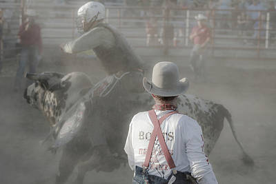 Photograph - Dust Storm Bull Rider by Steven Bateson