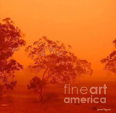 Photograph - Australian Desert Dust Storm by Leanne Seymour