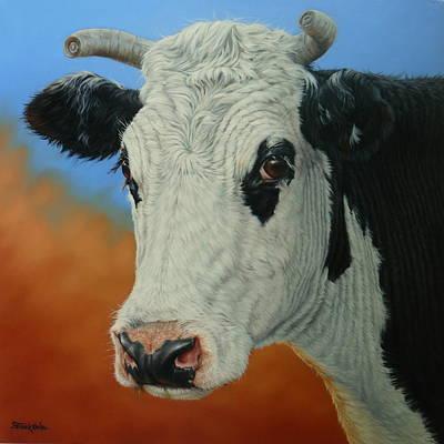Dust Storm-portrait Of Pet Art Print by Margaret Stockdale