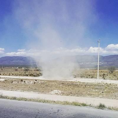 Photograph - Dust Tornado by Tina Ernspiker
