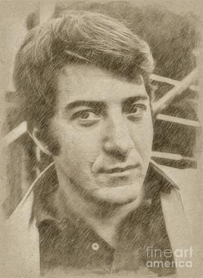 Fantasy Drawings - Dustin Hoffman, Actor by Frank Falcon