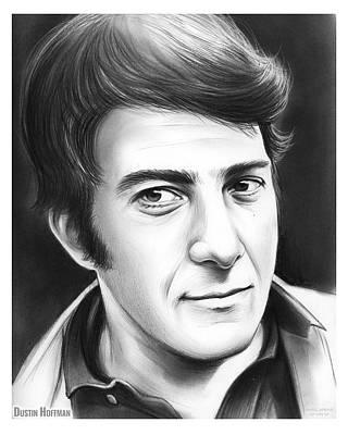 Award Drawing - Dustin Hoffman by Greg Joens