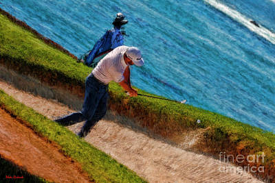 Photograph - Dustin Johnson One Ranked Golfer Outs The Sand Trap by Blake Richards