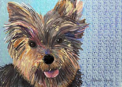 Dog Digital Art - Dusty by Arline Wagner