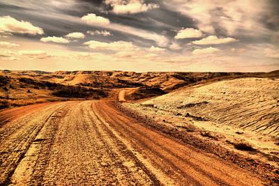 Gravel Road Photograph - Dusty Dakota Road by Jeff Swan