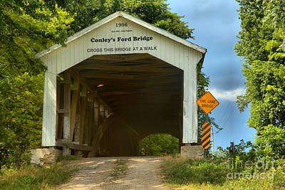 Photograph - Dusty Day At Conley's Ford Covered Bridge by Adam Jewell