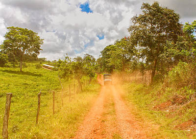 Photograph - Dusty Jamaican Road by John M Bailey