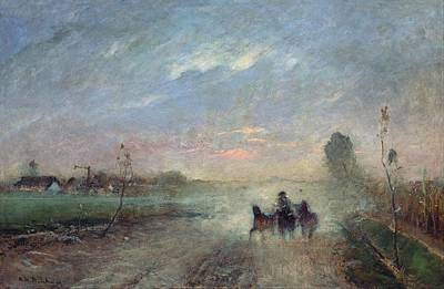 Dusty Road II By Mihaly Munkacsy, 1884 Art Print by Celestial Images