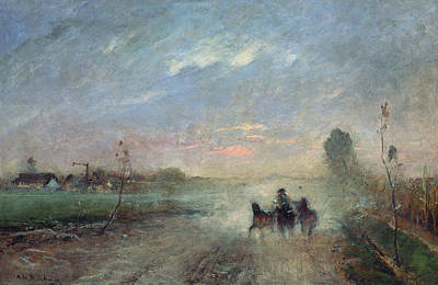 Hungarian Painting - Dusty Road II by Mihaly Munkacsy