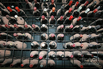 Photograph - Dusty Wine Bottles by Paula Guttilla