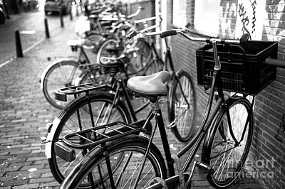 Photograph - Dutch Bikes Mono by John Rizzuto