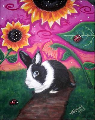 Painting - Dutch Bunny At Dusk by Monica Resinger