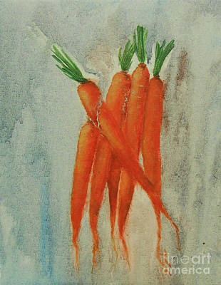 Painting - Dutch Carrots by Jane See