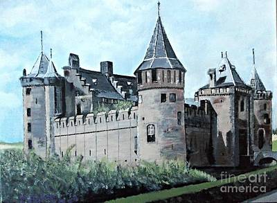 Painting - Dutch Castle In Muiden by Francine Heykoop