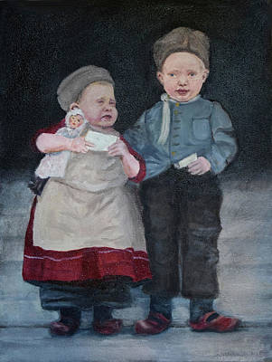 Painting - Dutch Children On Ellis Island by Sandra Nardone