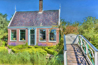 Small Bridges Digital Art - Dutch Cottage by Nadia Sanowar
