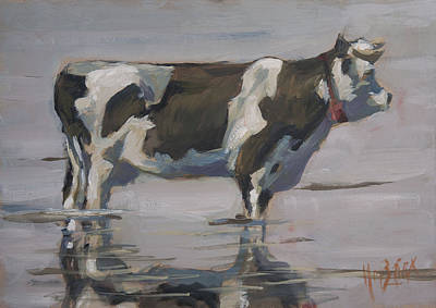 Painting - Dutch Cow Cool Down by Nop Briex
