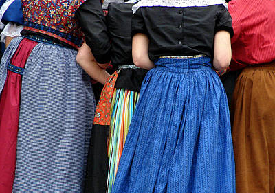 Photograph - Dutch Dancers In A Huddle by Michelle Calkins