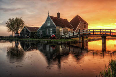 Zaanse Schans Photograph - Dutch Morning Glory by Reinier Snijders