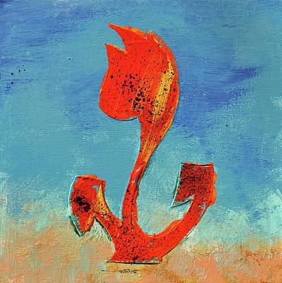 Flowerfield Painting - Dutch Pride Orange And Yellow by Eduard Meinema