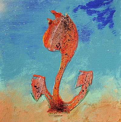 Flowerfield Painting - Dutch Pride Pink Orange by Eduard Meinema