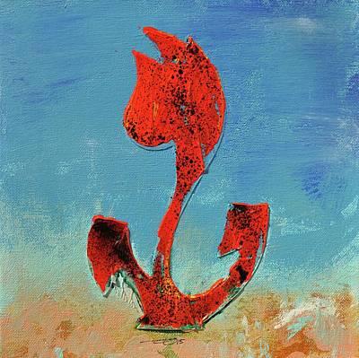 Flowerfield Painting - Dutch Pride Red And Black by Eduard Meinema