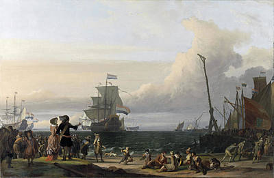 Painting - Dutch Ships In The Roads Of Texel by Ludolf Bakhuysen