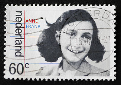 Dutch Stamp With Image Of Anne Frank. Art Print by Patricia Hofmeester