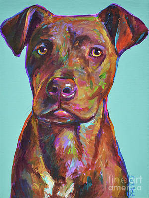 Painting - Dutch, The Brindle Mix by Robert Phelps