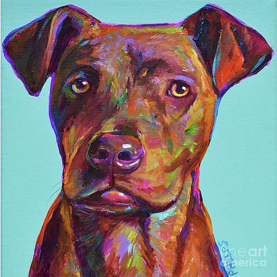 Painting - Dutch, The Pit Bull Pup by Robert Phelps
