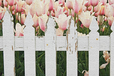 Picket Mixed Media - Dutch Tulips by Maria Dryfhout