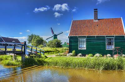 Small Bridges Digital Art - Dutch Village by Nadia Sanowar