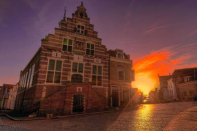 Photograph - Dutch Village Sunset by Nadia Sanowar