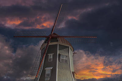 Photograph - Dutch Windmill In Lynden Washington State At Sunset by David Gn