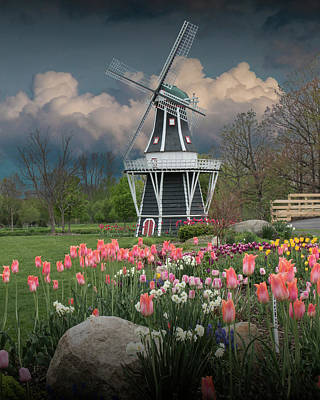 Photograph - Dutch Windmill On Windmill Island In Holland Michigan by Randall Nyhof