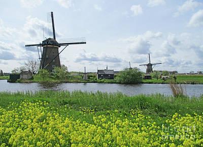 Photograph - Dutch Windmills 40 by Randall Weidner
