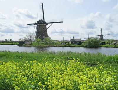 Photograph - Dutch Windmills 42 by Randall Weidner