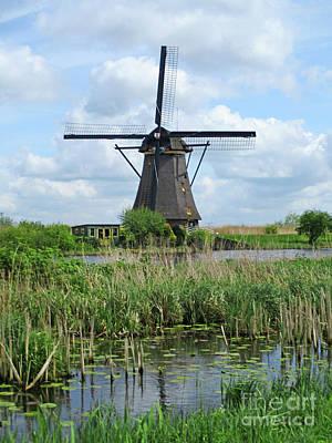 Photograph - Dutch Windmills 43 by Randall Weidner